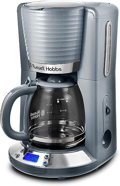 Russell Hobbs Inspire - Cafetera de goteo (jarra cristal, 15 tazas, 1000 W, digital, programable, gris) ref. 24393-56: Amazon.es: Hogar