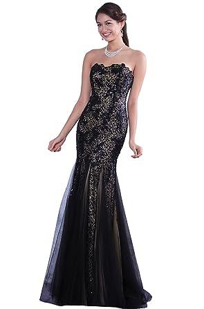Amazon.com: eDressit Black Strapless Homecoming Dress Prom Gown ...