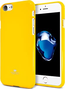 GOOSPERY Pearl Jelly for Apple iPhone SE 2020 Case, iPhone 8 Case, iPhone 7 Case, Slim Thin Rubber Case (Yellow) IP8-JEL-YEL-NH
