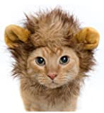 SOMAN ペット用 ライオンコスプレキャップ ライオンのたてがみ(耳付き) おしゃれ ペット 着ぐるみ 帽子