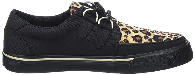 VLK D Ring Creeper Sneaker Blk/Leopard, Unisex Adults Low T.U.K.