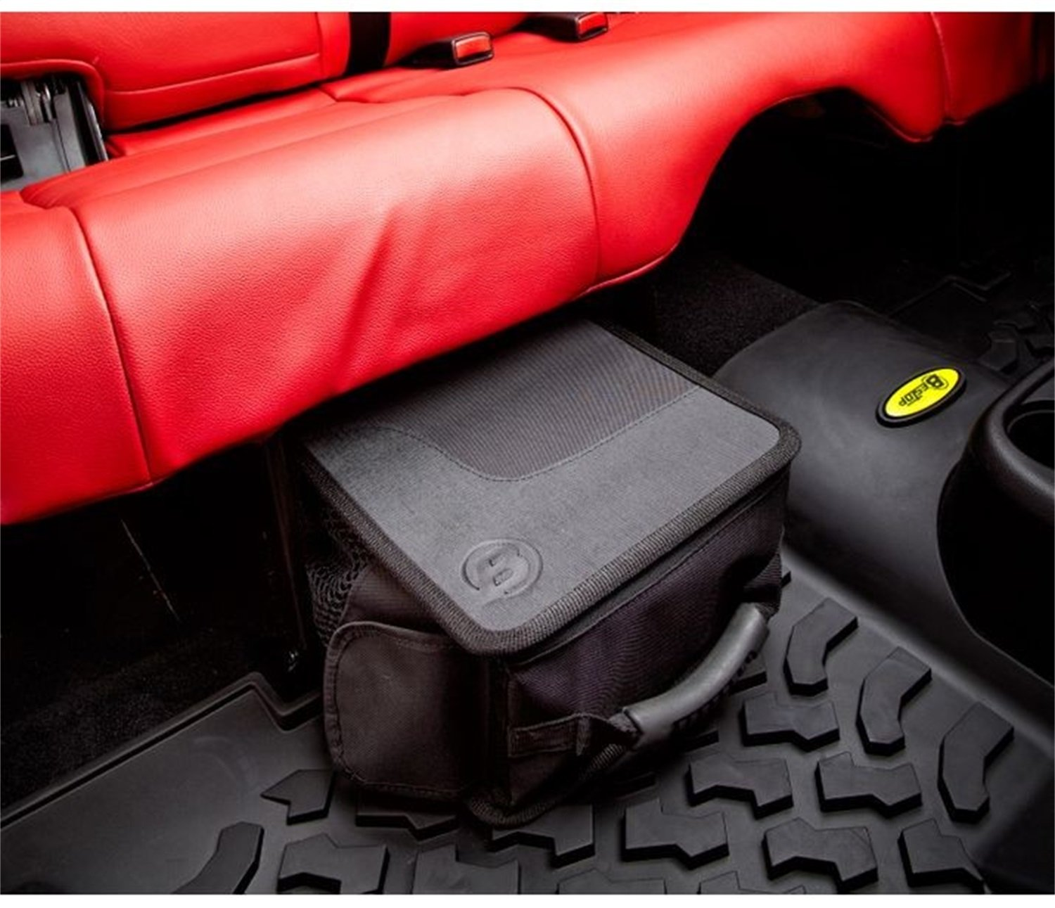 Bestop 54131-35 RoughRider Black Diamond Under Seat Organizer for 2007-2018 Wrangler JK