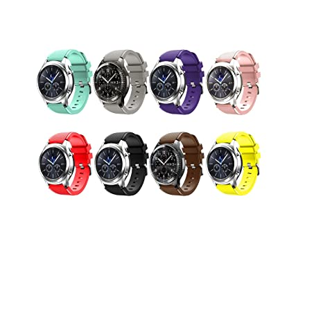 Tabcover Smart Watch Correa,8 Colors 22mm Soft Silicone Sports Replacement Strap for Samsung Gear S3 Frontier / Classic watch