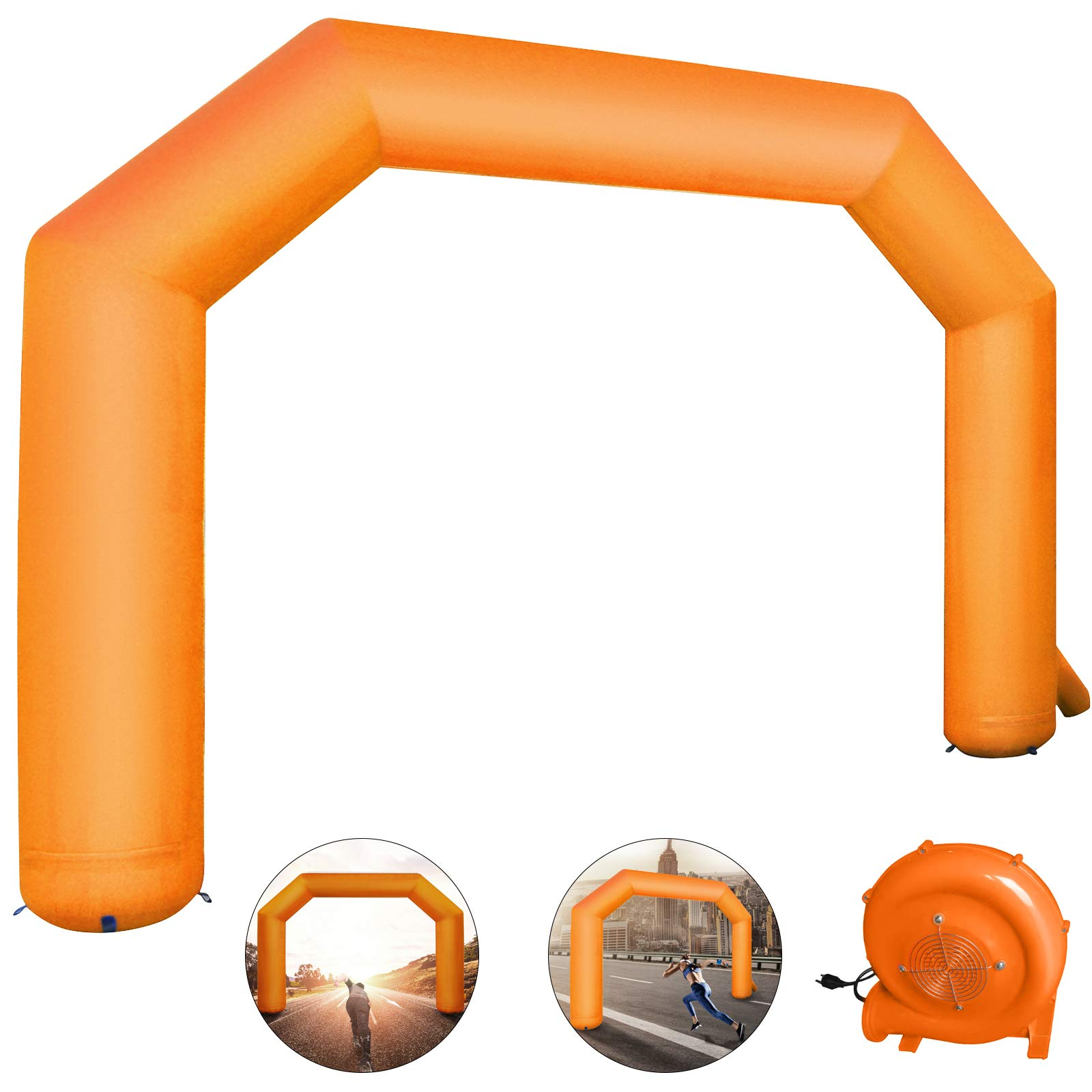 Happybuy Inflatable Arch Orange 20ft Hexagon Inflatable Arch with Blower Inflatable Archway for Race Outdoor Advertising Commerce