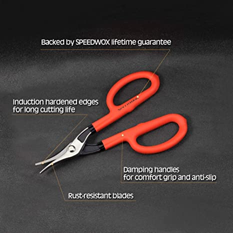 SPEEDWOX Duckbill Tinner Snips 10 Inches Tin Snips with Hot Drop Forged Sharp Blade Heavy Duty Professional Sheet Metal Cutting Snips Hand Cutting Tool