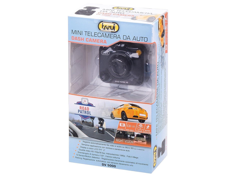 Registrazione Automatica con Sensore Rilevamento Urto o Movimento Facile Installazione Visione Notturna Trevi DV 5000 Dash Cam Telecamera di Sicurezza per Auto