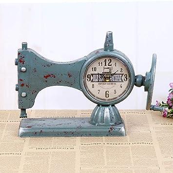 TtKjModelos máquina de Coser Cara Reloj máquina de Coser Antigua Reloj Creativo decoración casera 33 * 12 * 23 cm: Amazon.es: Hogar