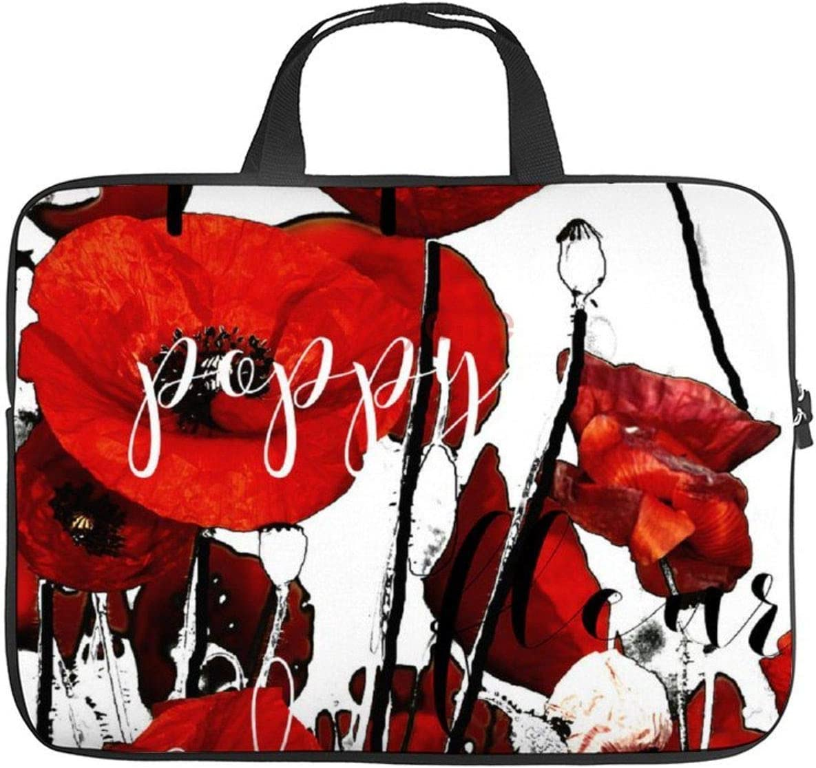 """Neoprene Sleeve Laptop Handbag Case Cover Red Poppies 10 Inch Laptop Sleeve Case for 9.7"""" 10.5"""" Ipad Pro Air/ 10"""" Microsoft Surface Go/ 10.5"""" Samsung Galaxy Tab"""