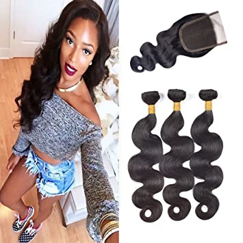 Malaysian Water Wave Bundles With Closure Beauty Plus Ocean Wave Hair Weave With Closure Remy Human Hair 3 Bundles With Closure Complete Range Of Articles Human Hair Weaves 3/4 Bundles With Closure