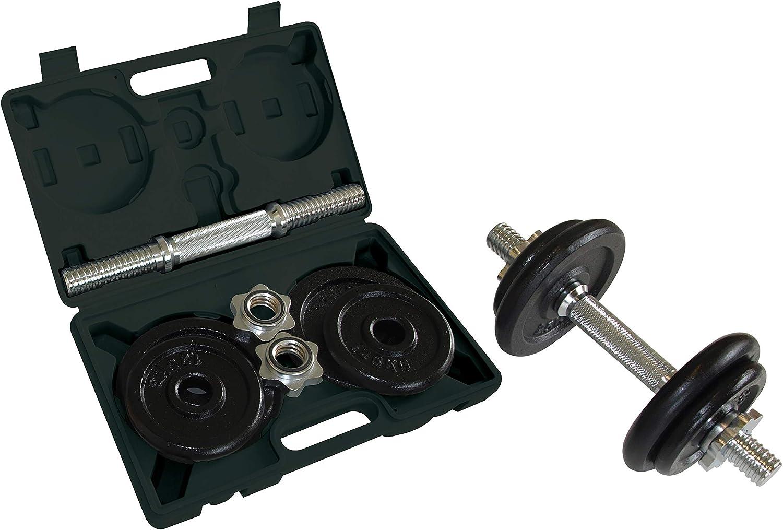 Schildkröt Fitness Kit Mancuerna 10 Kg - Barra y 4 Discos, en un Maletín: Amazon.es: Deportes y aire libre