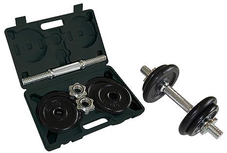 Schildkröt Fitness Kit Mancuerna 10 Kg - Barra y 4 Discos, en un ...