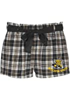 Witchita State Shockers Black and Gold Flannel Shorts with Ribbon Drawstring