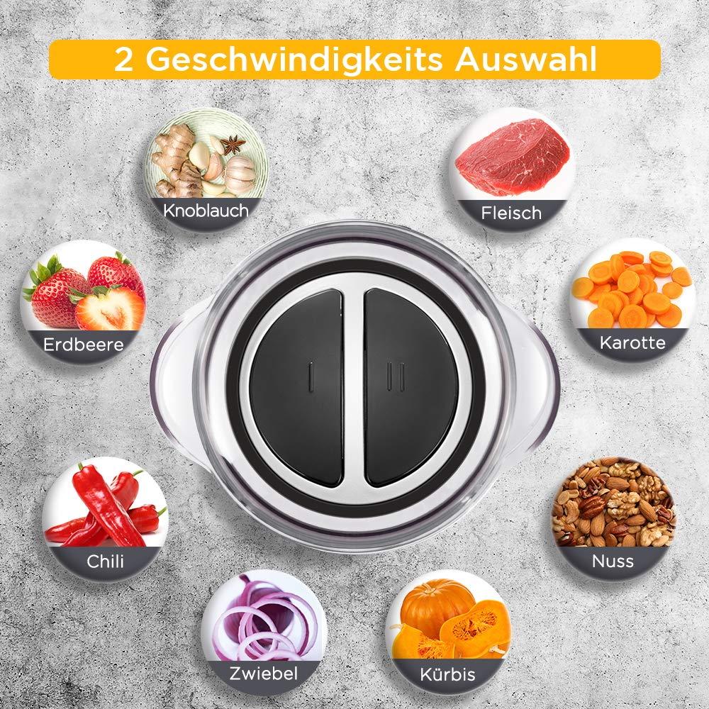 2 velocidades verduras y alimentos para beb/és 2l Trituradora el/éctrica universal de Chulux trituradora para carne frutas