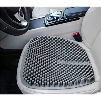 Hylaea Gel Seat Cushion Pads for Car Office Chair Truck Wheelchair 18 by 18 inch (Grey): Home & Kitchen
