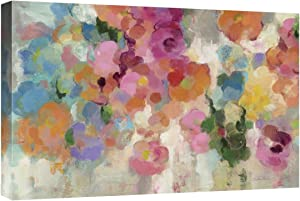 Global Gallery Silvia Vassileva, Colorful Garden I Crop' Giclee Stretched Canvas Artwork, 24 x 16