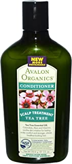 product image for Avalon Organics Scalp Treatment Tea Tree Conditioner, 11 oz (Pack of 3)