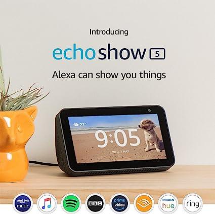 Echo Show 5 Compact Smart Display With Alexa Black Amazon Co