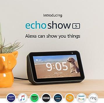 amazon echo show 5 with alexa connecting to speaker