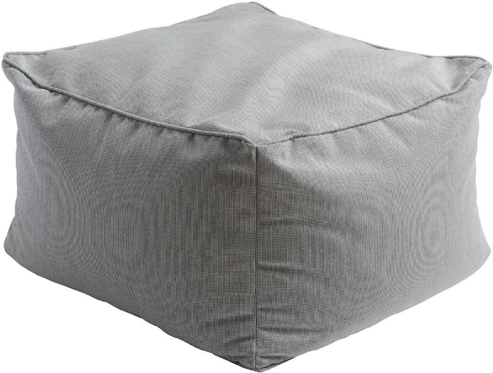 Surya Solid/Striped Square pouf/ottoman 22''x22''x14'' in Gray Color From Piper Collection