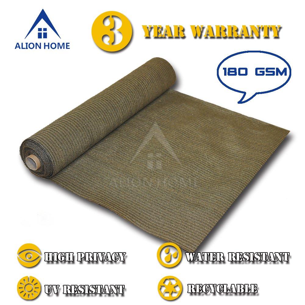ALION HOME HDPE Shade Fabric Cloth 95 UV Block. 4 x 50 Mocha Brown