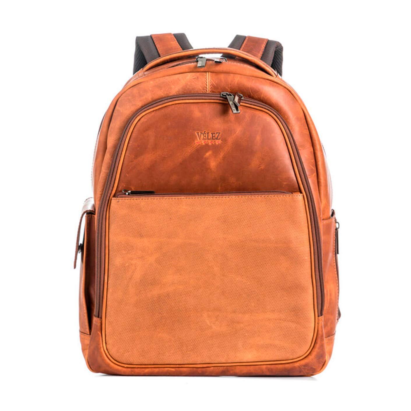 Amazon.com | Velez Genuine Leather Backpack for Men Bolso en Cuero de Hombre Brown | Casual Daypacks