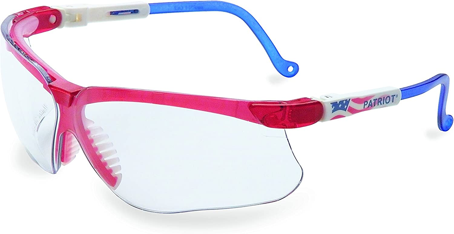 Uvex by Honeywell Genesis Safety Glasses, Patriot Frame with Clear Lens & Uvextreme Anti-Fog Coating (S3260X)