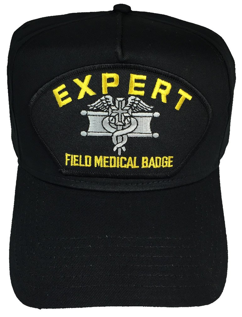 EXPERT FIELD MEDICAL BADGE HAT - BLACK - Veteran Owned Business