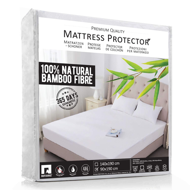 TOUBKAL Protège Matelas 100% Fibre DE Bambou - Alèse 90 x 190 cm IMPERMÉABLE  - Maintien Parfait - Drap Housse Confort Ultra-Doux - Protection OPTIMALE,  ... 3265e5a8f83f