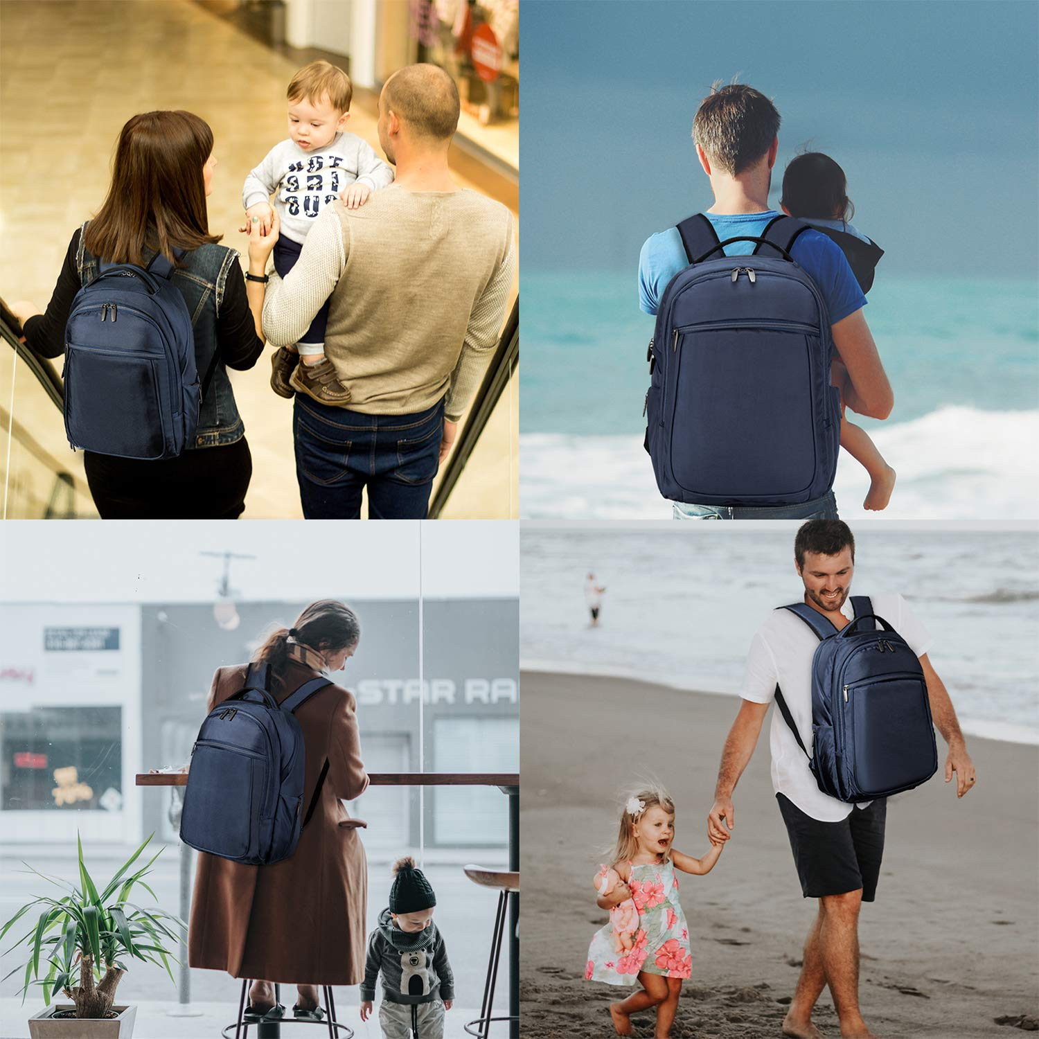 Wemk Laptop Backpack, Business Backpack, Travel Computer Backpack for Women & Men, Water Resistant College School Computer Bag with a Little Bag, Fits 14.1 Inch Laptop& Notebook (Blue) by Wemk (Image #7)
