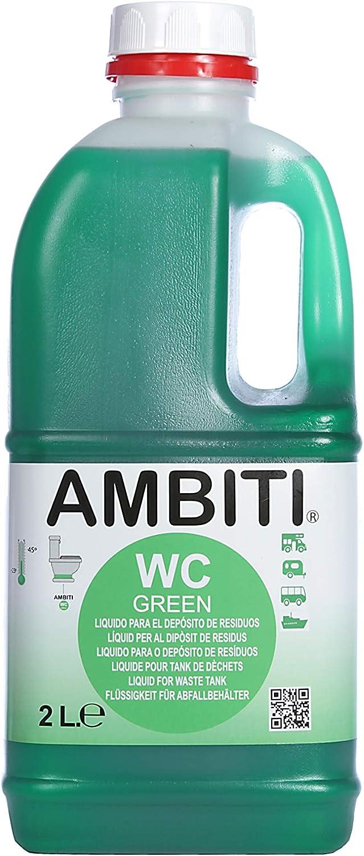 AMBITI Green 2 L, aditivos para aguas negras sin perfumes.