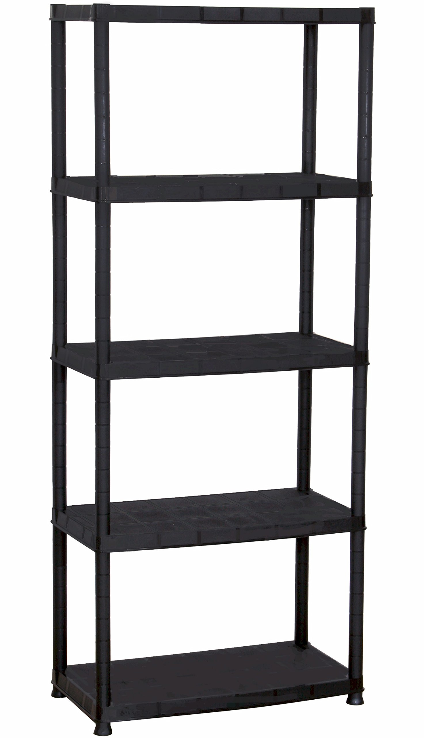 5-Shelf Plastic Storage with Floor Risers, Home and Kitchen, Storage and Office, Plascoline