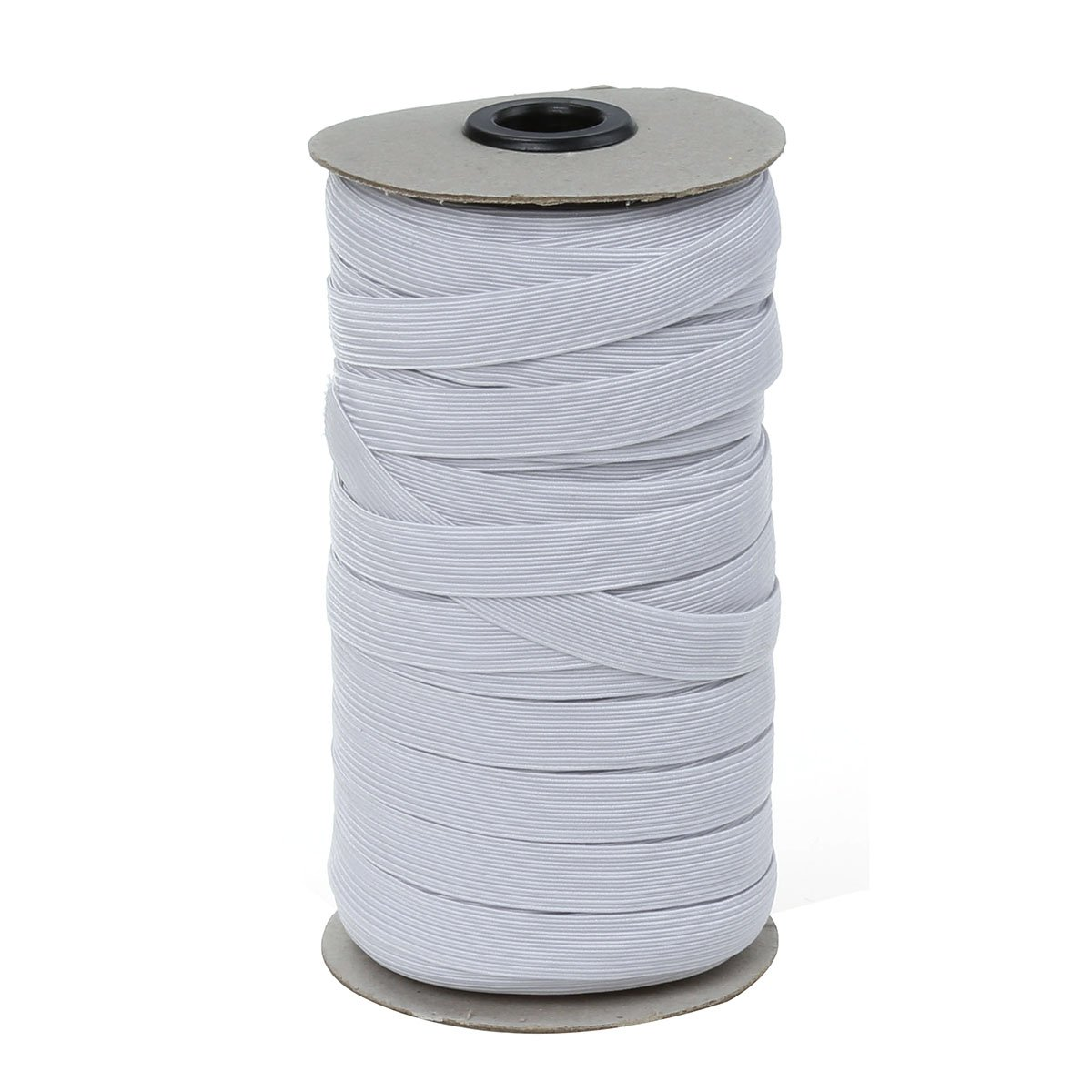 COTOWIN 1/2-inch White Braided Polyester Elastic Roll 45.7 Metres(50 Yards) XINZHEYUAN