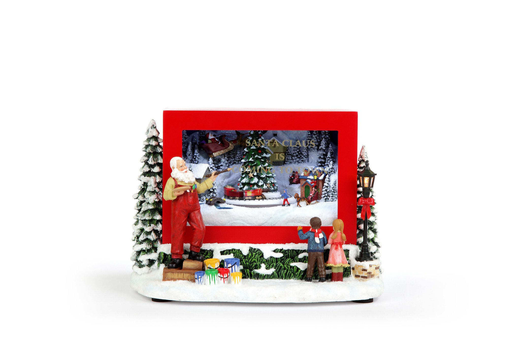 Santa Painting Shop Window
