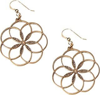 product image for 7 Rings of Peace Peace Bronze Earrings on French Hooks