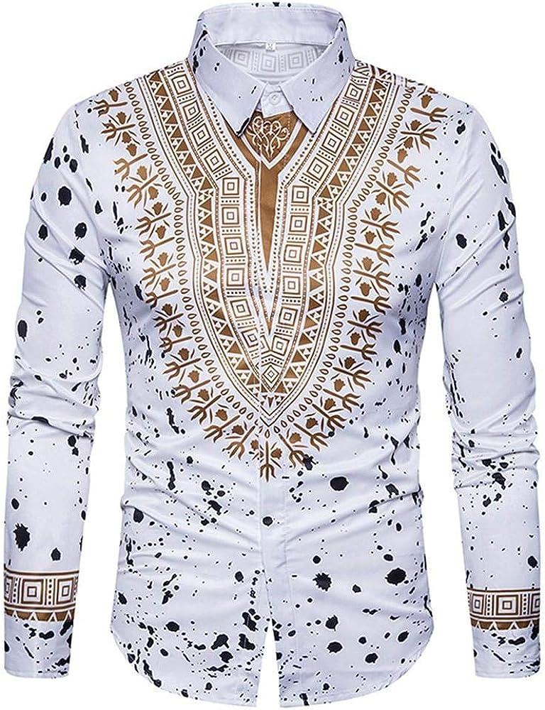 Yvelands African Print T-Shirt Hombres Ocasionales de Moda de Moda impresión Pullover de Manga Larga Camisa Top Blusa Camisas de Vestir Ropa Vestido de Fiesta de Verano otoño: Amazon.es: Ropa y accesorios