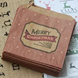 "East of India - Buste piccole con cordino, ""Merry Christmas"" (buon natale), 40 pz"