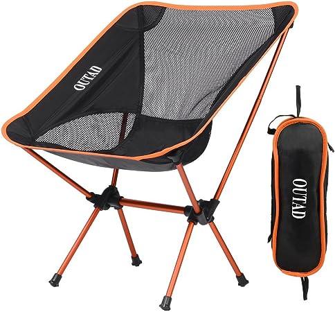 Silla de camping Niceao plegable y portátil para usar al aire libre, para disfrutar de la luna o de la playa, con bolsa para llevar mientras haces ...