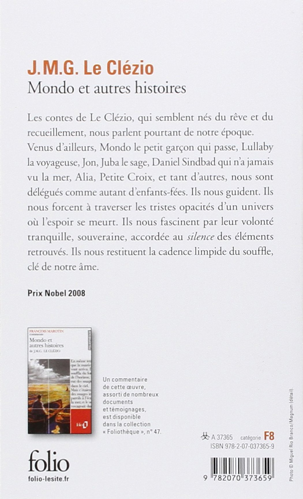 Mondo Et Autres Histoires (collection Folio) (french Edition): Jeanmarie  Gustave Le Clezio: 9782070373659: Amazon: Books