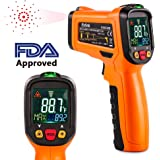Infrared Thermometer,ES6530B Non-Contact Digital Laser IR Temperature Gun for Kitchen Cooking BBQ Medical Liquids, (-50℃ to 550℃) -58℉ - 1022℉ with HD Backlight LCD Display Accuracy Reading