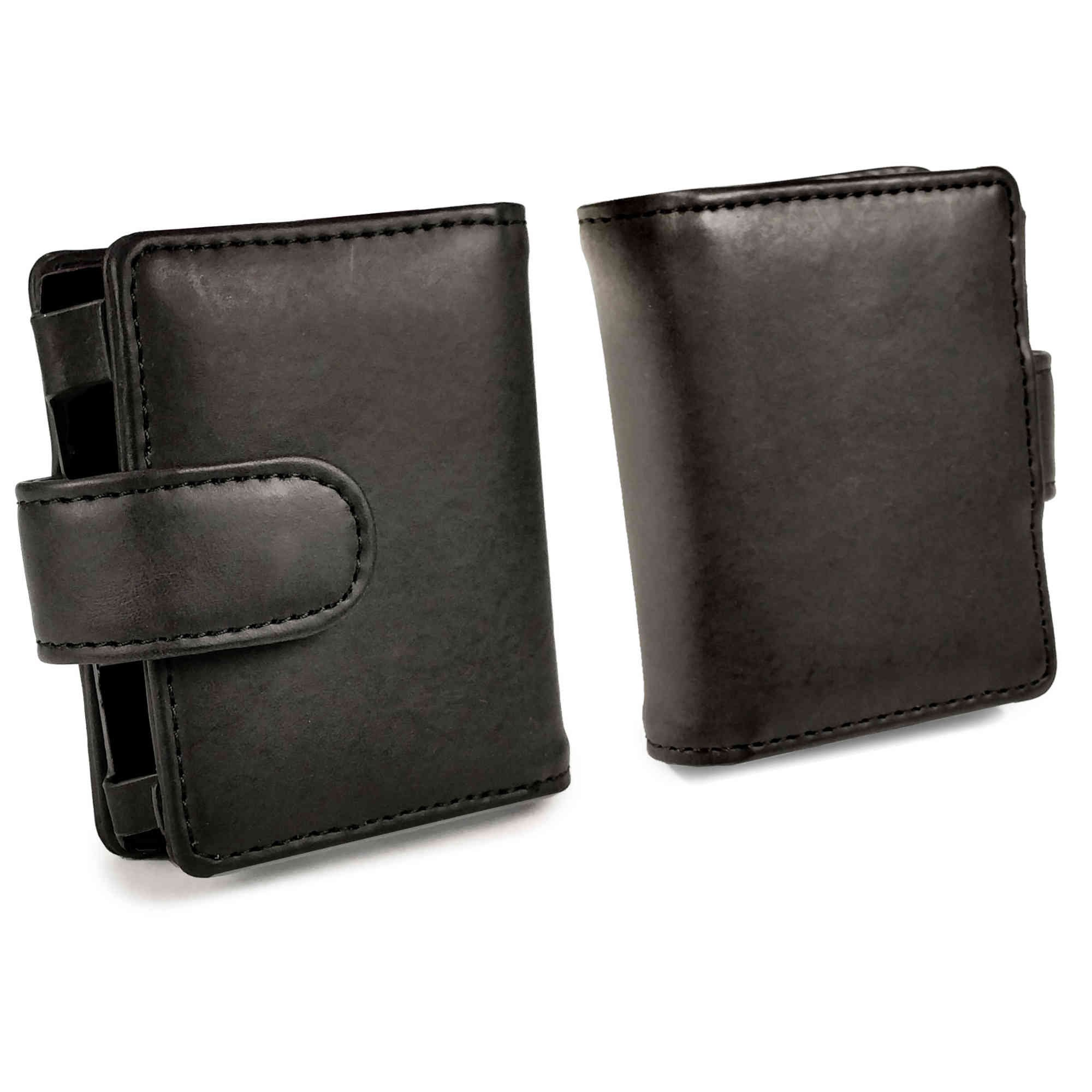 Tuff-luv Genuine Western Leather Case Cover for Cowon Plenue D - MP3 - Black by Tuff-luv (Image #3)