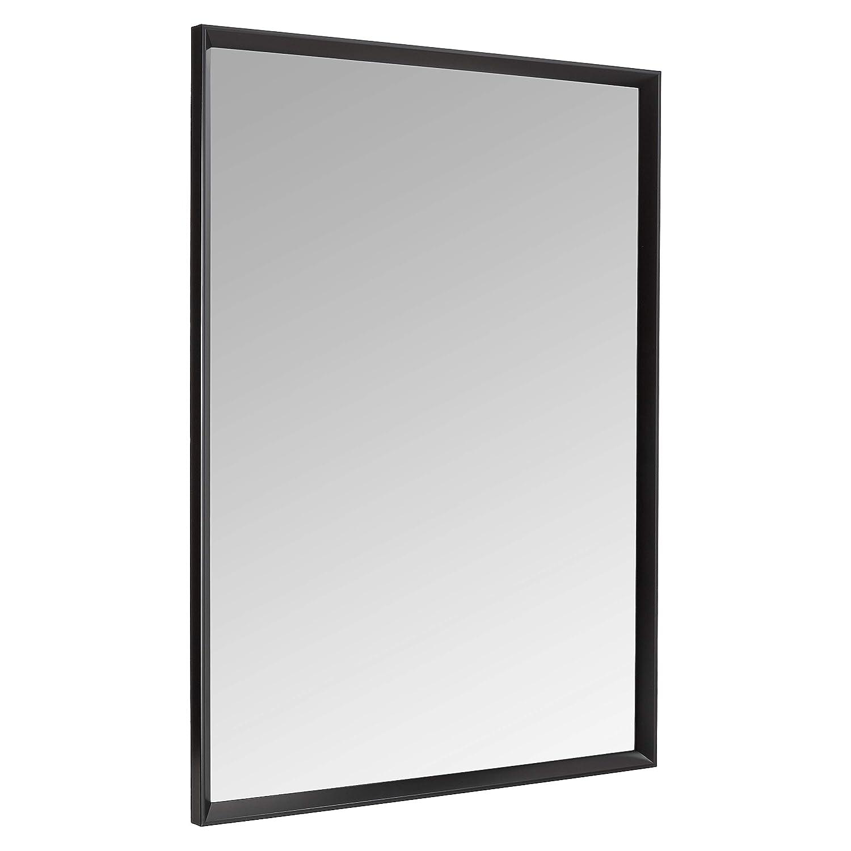 "AmazonBasics Rectangular Wall Mirror 30"" x 40"" - Peaked Trim, Black"