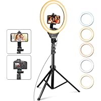 UBeesize 12'' Ring Light with Tripod, Selfie Ring Light with 67'' Tripod Stand, Light Ring for Video Recording&Live…
