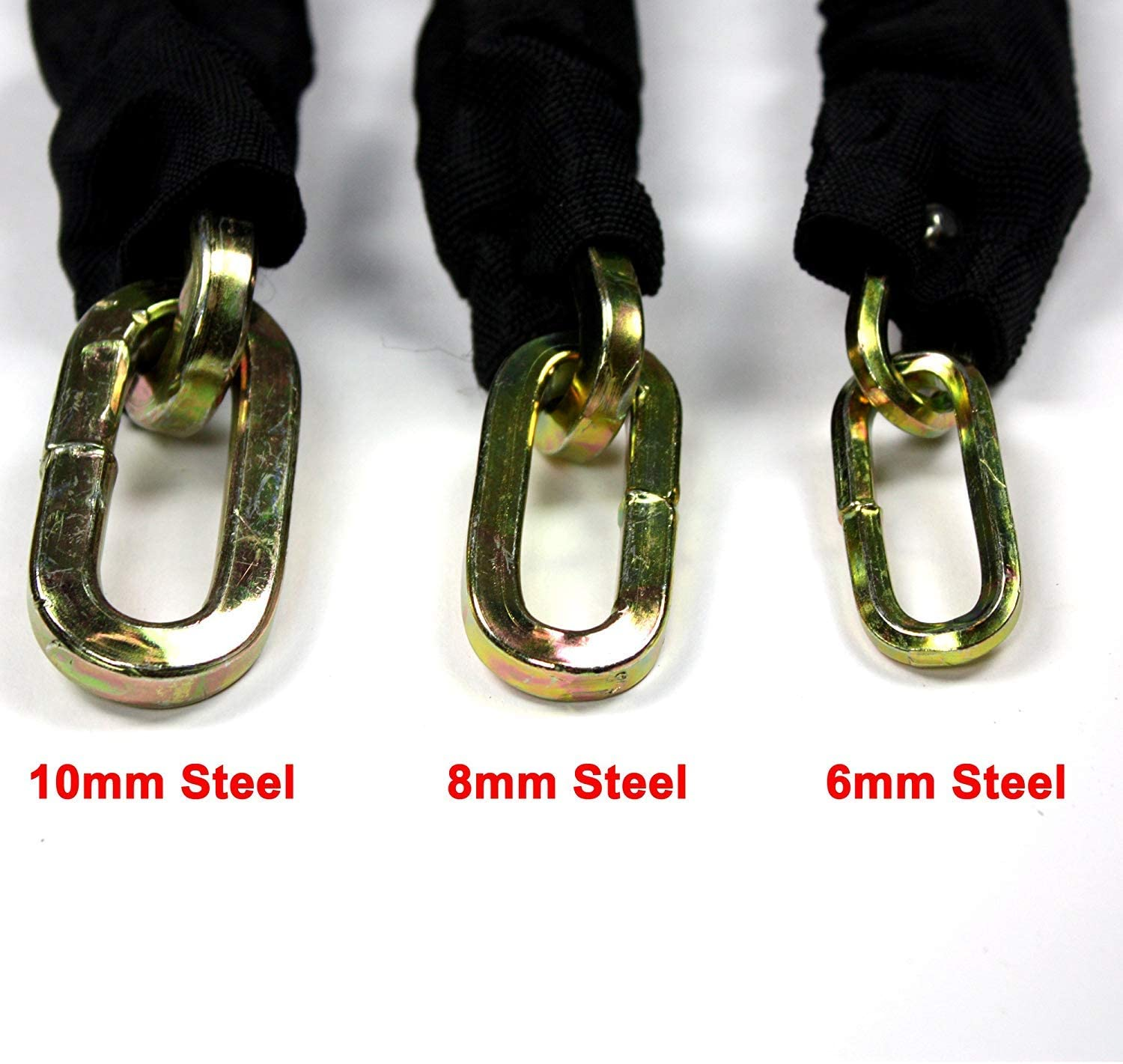 4 Models to Choose   Safety Chain Heavy Duty Anti-Theft Padlock Scooter and Motorcycles EUROXANTY/® Steel Manganese Chain Lock for Bikes