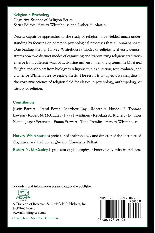 mind and religion mccauley robert n whitehouse harvey