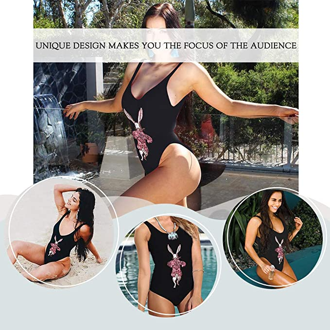 SoarDream White Black One-Piece Swimsuit Beach Swimwear Bathing Suit Women s  Summer Swimsuit Sequin Inspired Design at Amazon Women s Clothing store  c0476e850