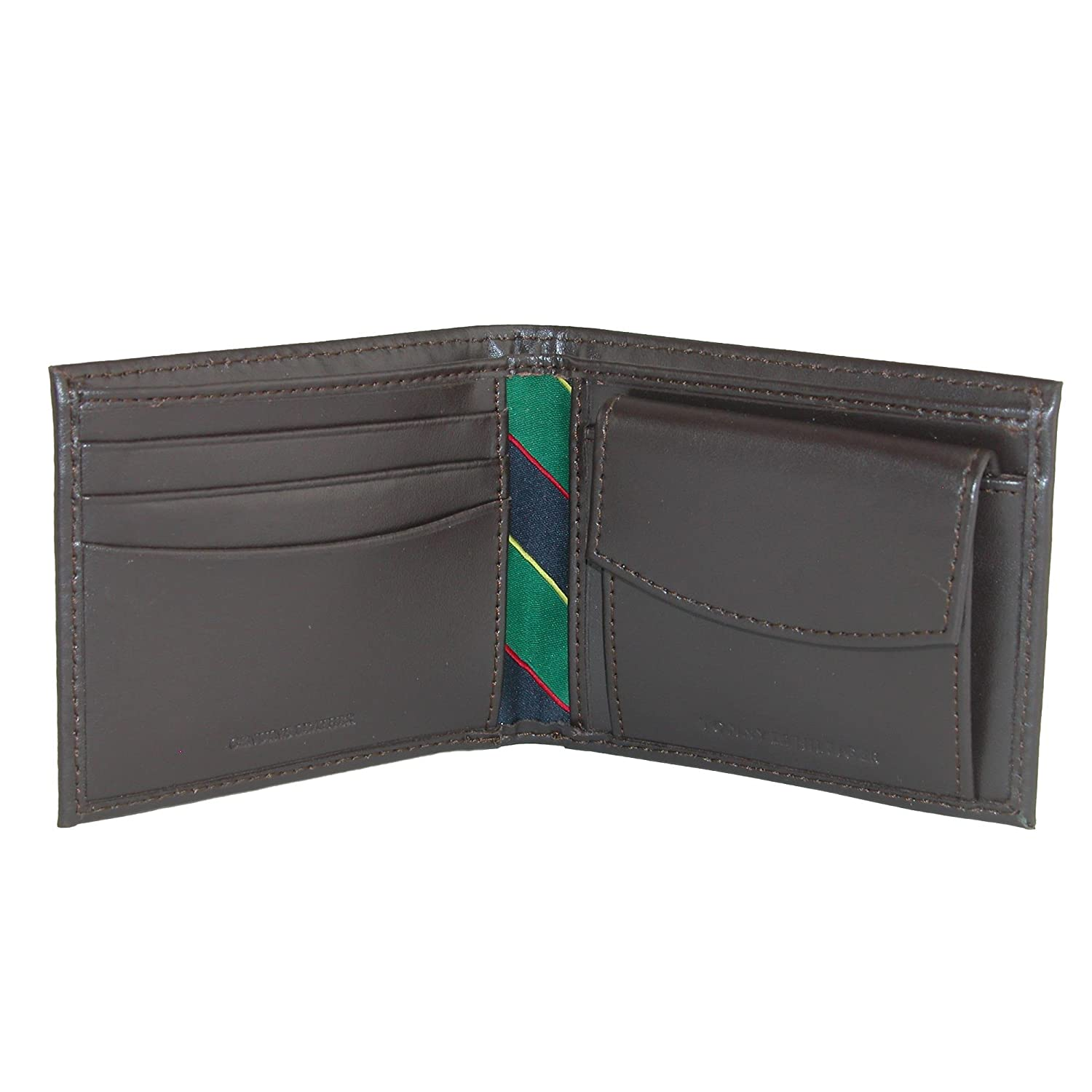 Tommy Hilfiger Mens Leather Fordham Bifold Wallet with Coin Pocket