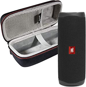 JBL FLIP 5 Portable Speaker IPX7 Waterproof On-The-Go Bundle with WRP Deluxe Hardshell Case (Black)