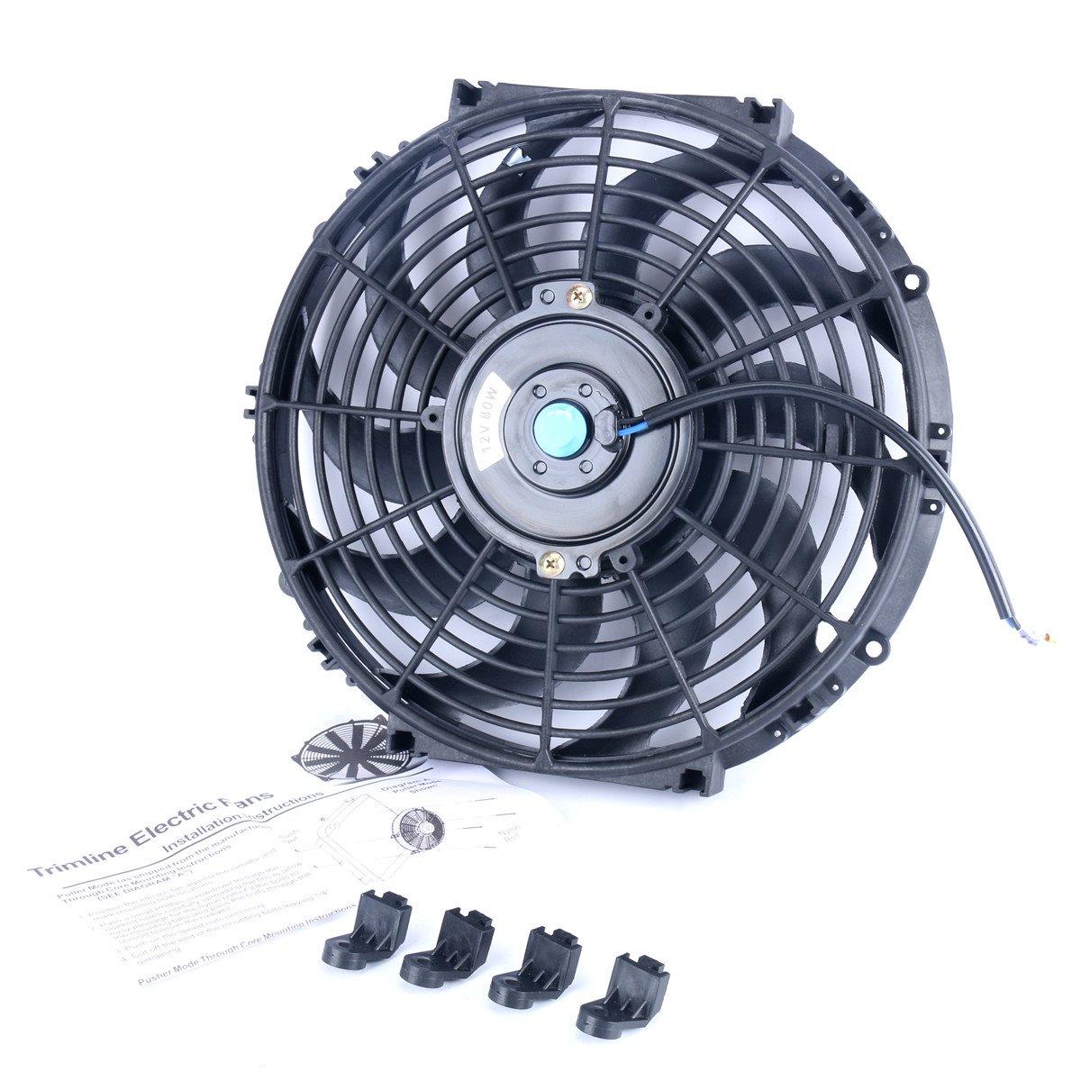 Universal Slim 12 Quot Pull Push Radiator Engine Bay Cooling