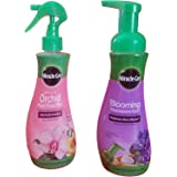 Miracle-Gro Blooming Houseplant Food, 8 oz & Miracle-Gro Orchid Plant Food Mist (Orchid Fertilizer) 8 oz. (2 fertilizers)