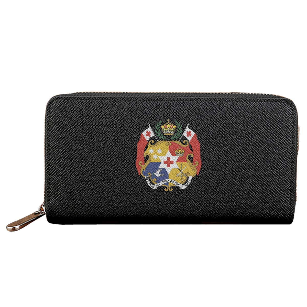 Tonga National Emblem Credit Card With Zipper Wallet Business Casual Hand Wallet